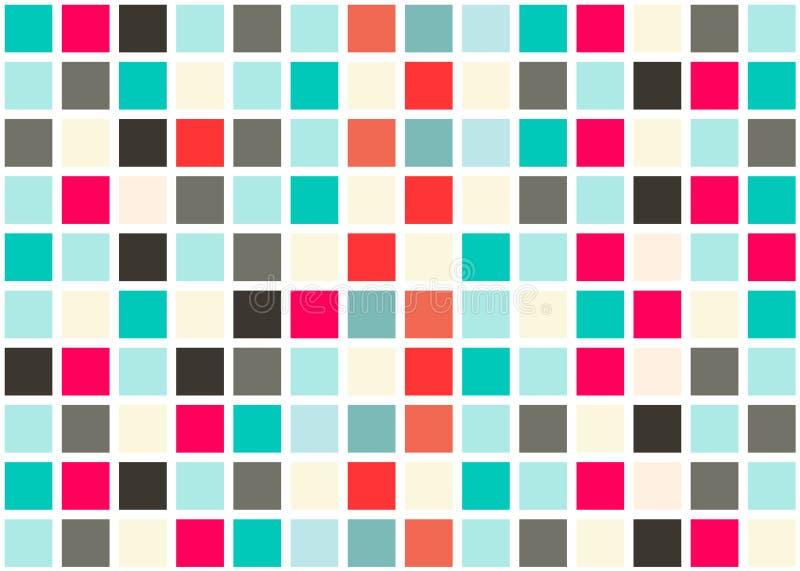 Плитки ретро веб-дизайна безшовные иллюстрация вектора