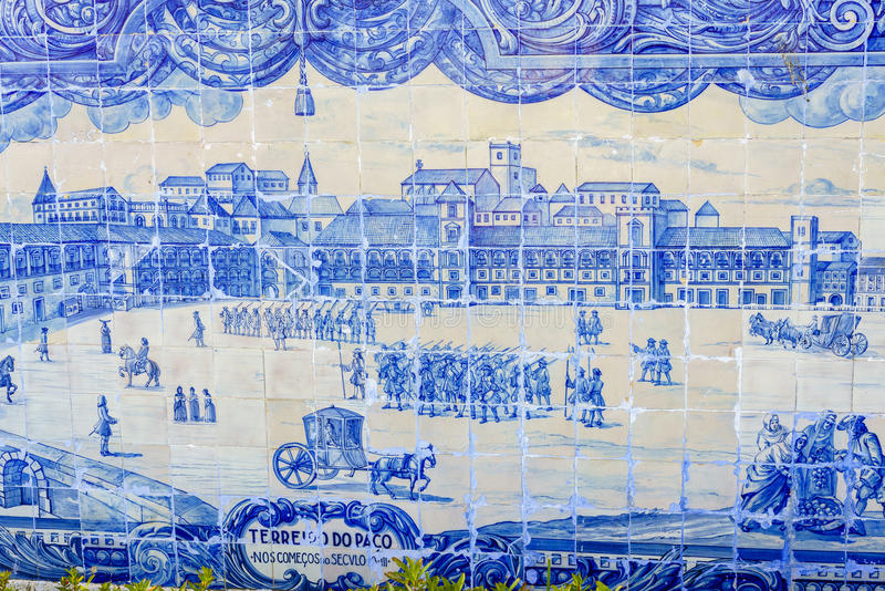 плитки lisbon azulejo керамические исторические стоковое фото