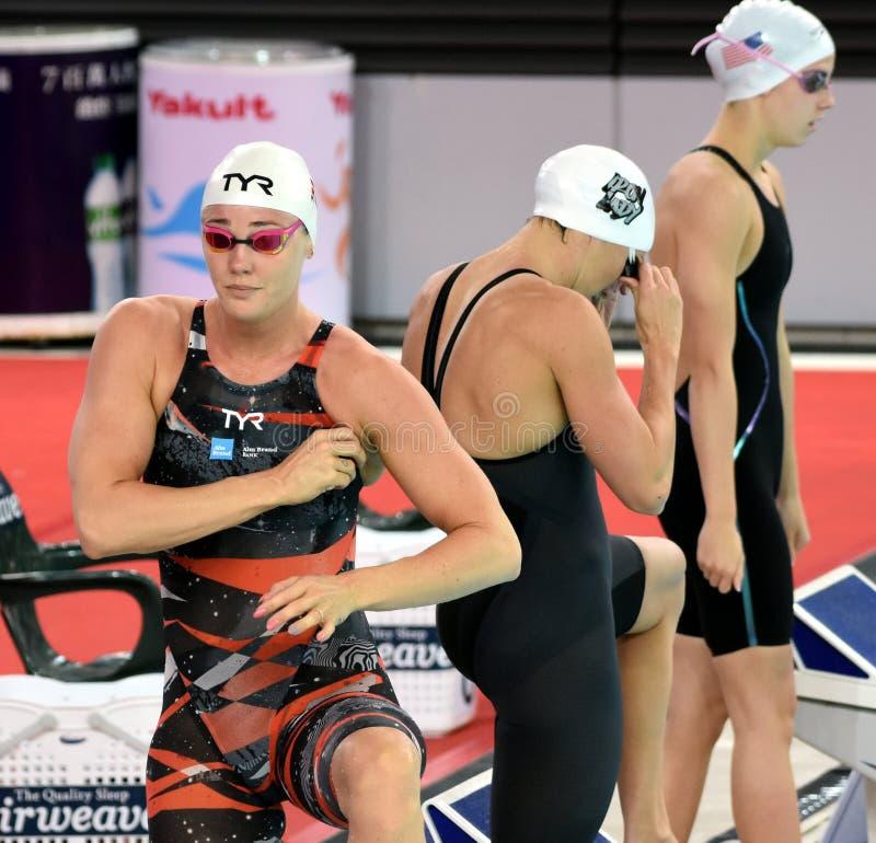 Пловец Jeanette Ottesen фристайла датского спринта олимпийца и рекордсмена стоковая фотография rf