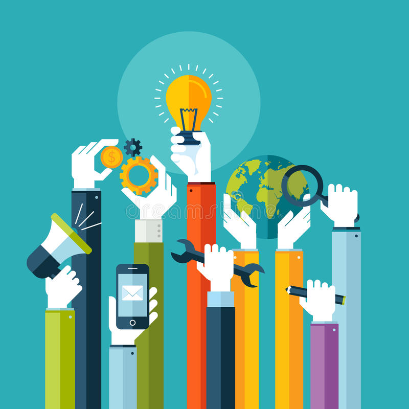 Плоская идея проекта для онлайновых служб