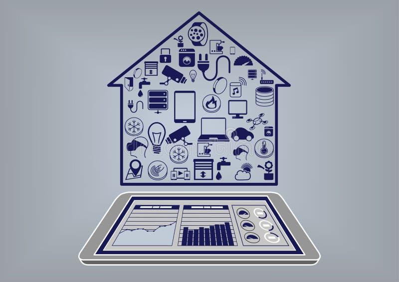 Плоская иллюстрация дизайна умной домашней автоматизации infographic бесплатная иллюстрация