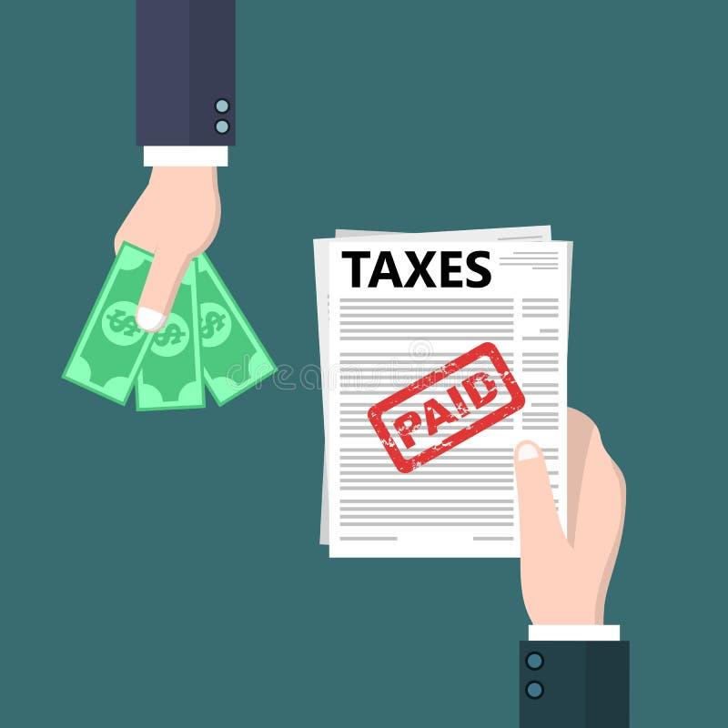 Плоская иллюстрация налоговой декларации стиля схематическая иллюстрация вектора