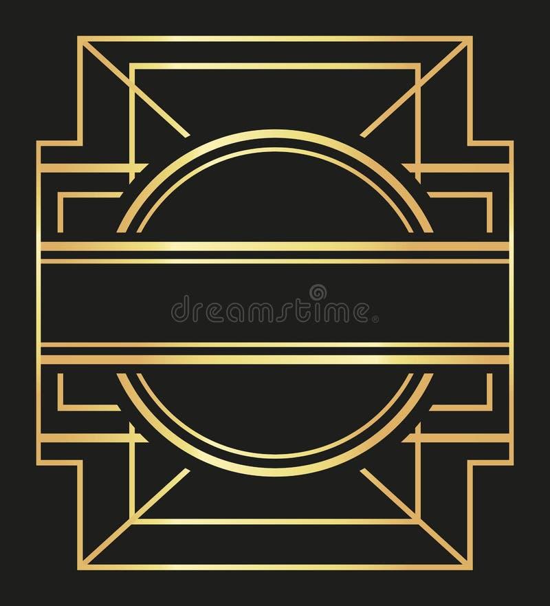 Плоская иллюстрация о gatsby дизайне предпосылки иллюстрация вектора