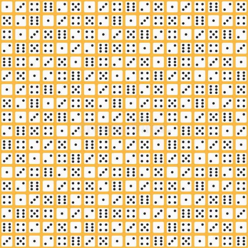 Плоская картина кости вектор предпосылки безшовный иллюстрация вектора