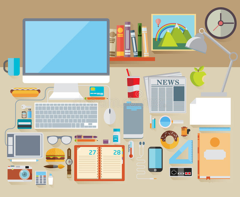 Плоская концепция иллюстрации вектора современного дизайна иллюстрация вектора