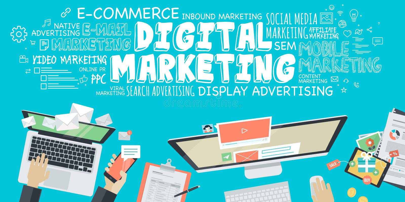 Плоская концепция иллюстрации дизайна для цифрового маркетинга