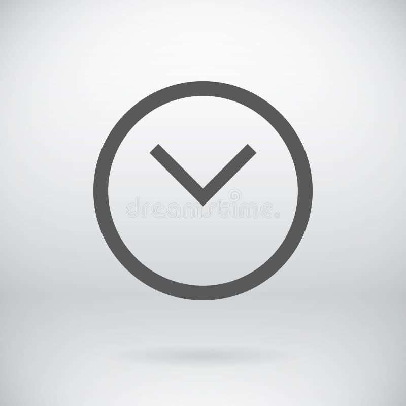 Плоская предпосылка символа вахты вектора знака часов иллюстрация вектора