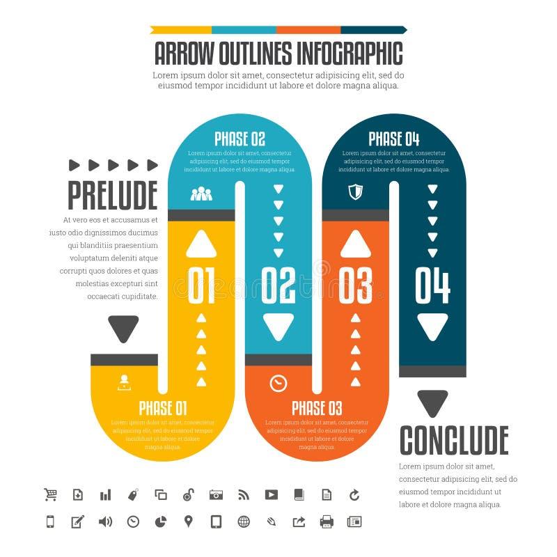 Плоская труба Infographic иллюстрация вектора