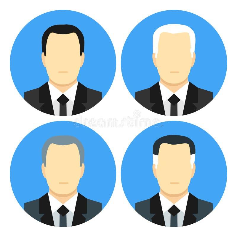 Плоские бизнесмены стиля с 4 стрижками бесплатная иллюстрация