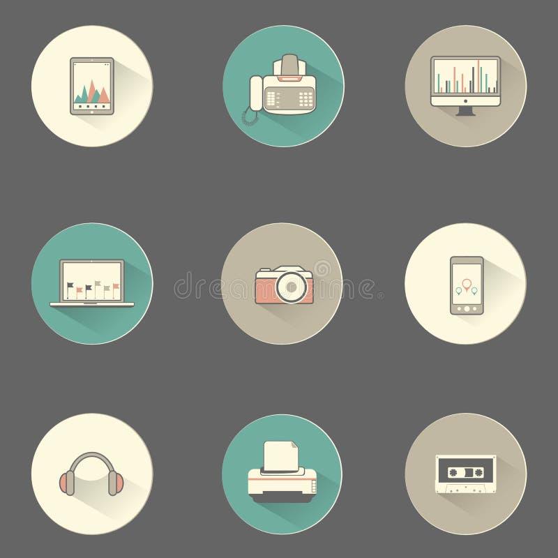 Download Плоские значки символа мультимедиа установили для сети и Mobil Иллюстрация вектора - иллюстрации насчитывающей предмет, достиганную: 37926939