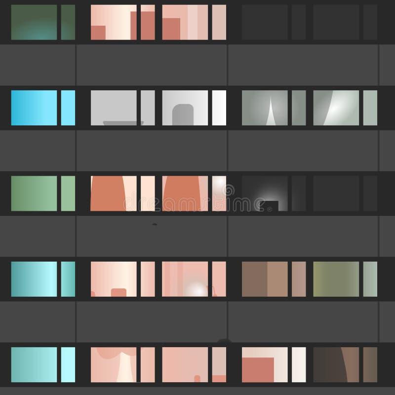 Плоские квартиры иллюстрация вектора
