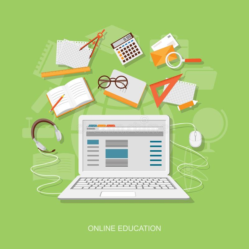 Плоские элементы образования бесплатная иллюстрация