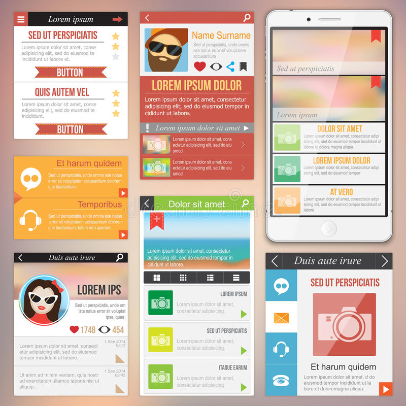 Плоский веб-дизайн иллюстрация штока