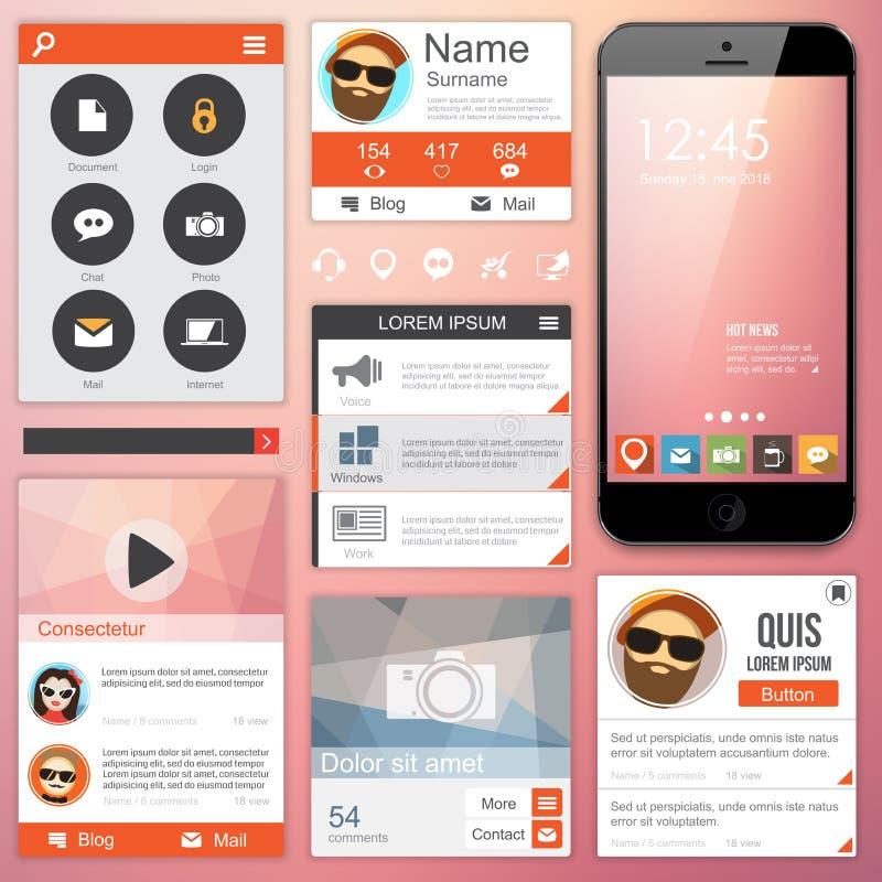 Плоский веб-дизайн бесплатная иллюстрация