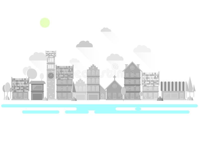Плоский город стоковая фотография