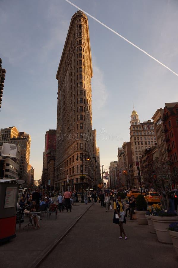 Плоский железный строя Нью-Йорк стоковое изображение