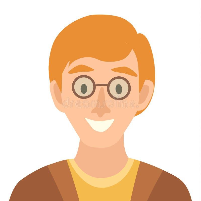 Плоский значок вектора человека шаржа Иллюстрация значка человека иллюстрация штока