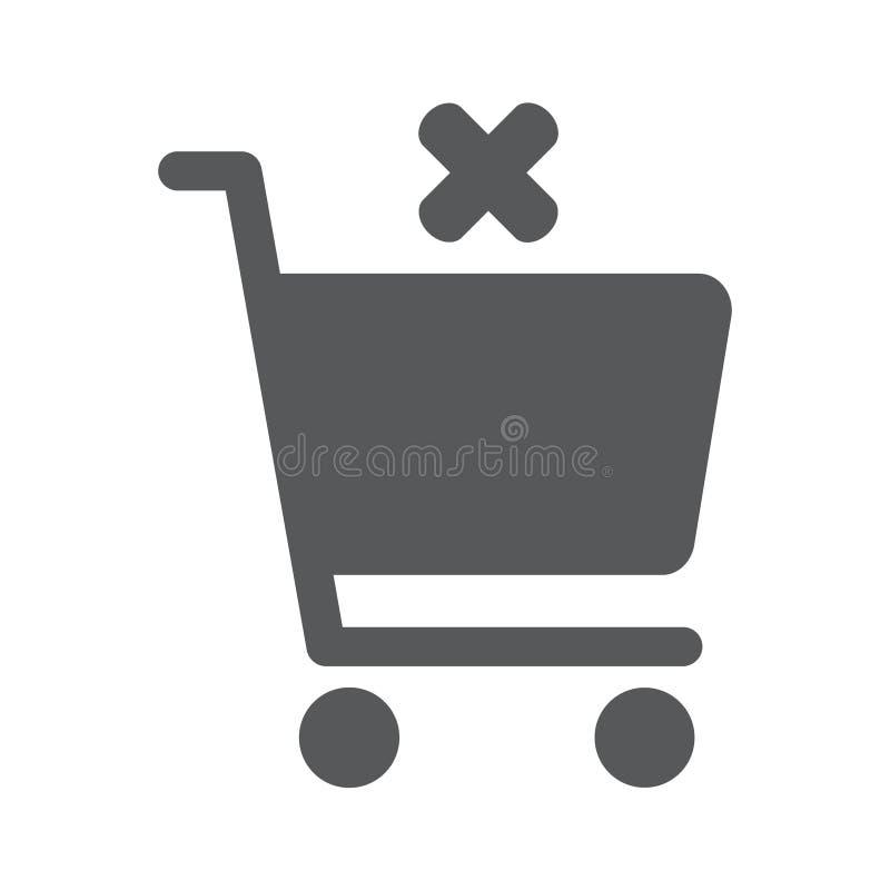 Плоский значок диаграммы покупок отмены бесплатная иллюстрация