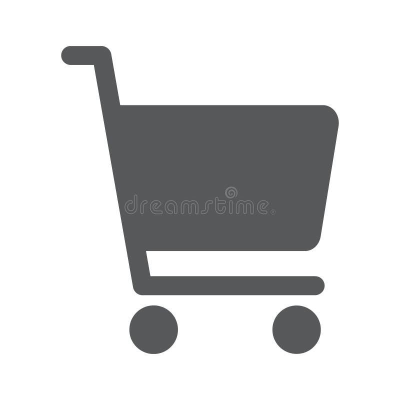 Плоский значок диаграммы покупок бесплатная иллюстрация