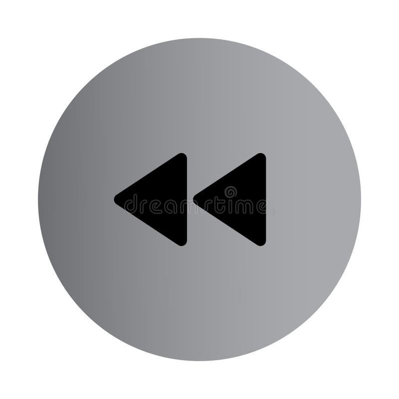 Плоский значок rewind цвета бесплатная иллюстрация