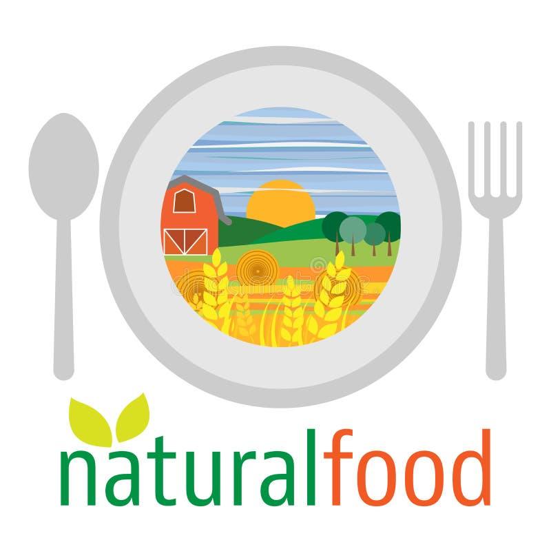 Плоский дизайн вегетарианской еды, здоровой еды и di овощей иллюстрация вектора