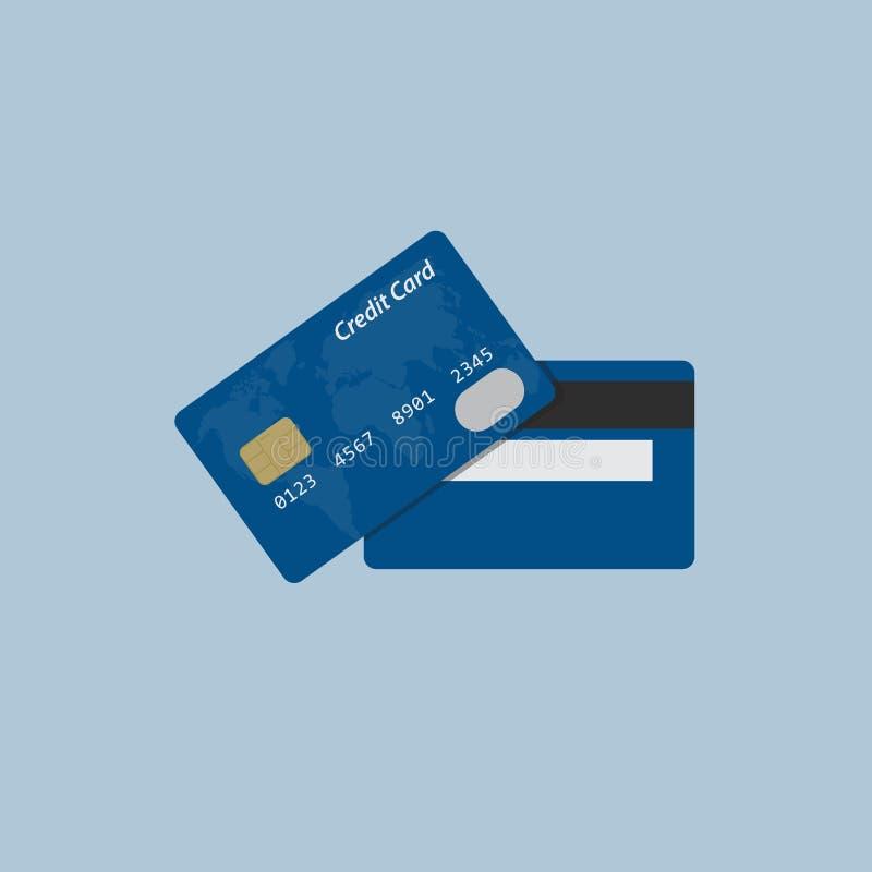 Download Плоский дизайн кредитной карточки Иллюстрация вектора - иллюстрации насчитывающей задолженность, обломок: 81814610