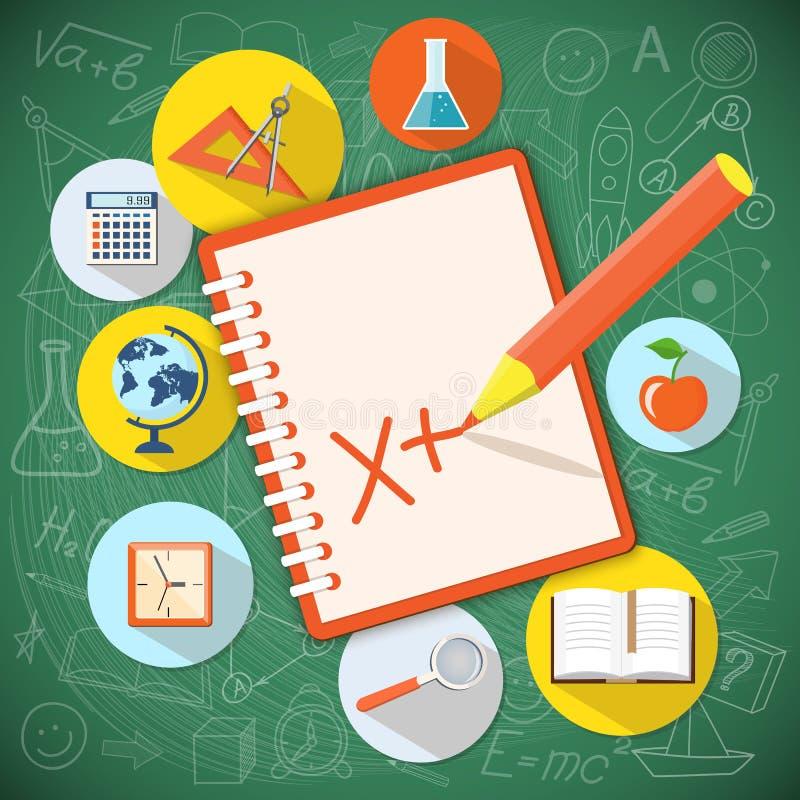 Плоский дизайн на время образования бесплатная иллюстрация