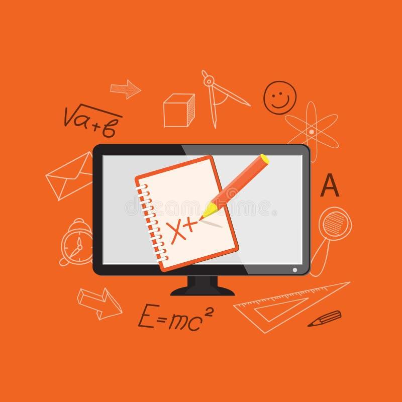 Плоский дизайн для онлайн образования иллюстрация штока