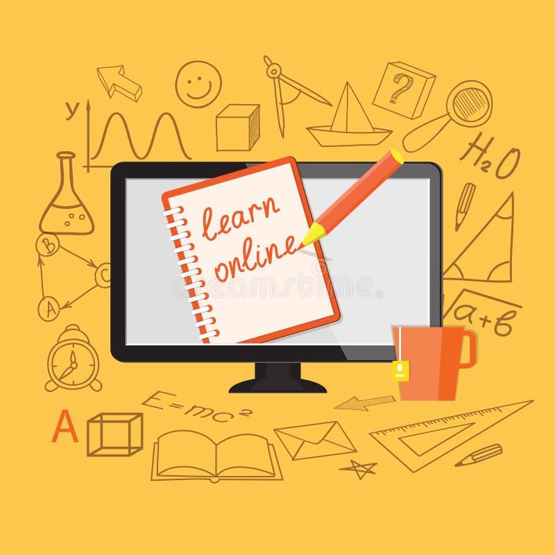 Плоский дизайн для онлайн образования бесплатная иллюстрация