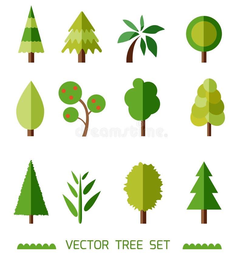 Плоский комплект элементов вектора стиля различные типы валов Значки игры иллюстрация штока
