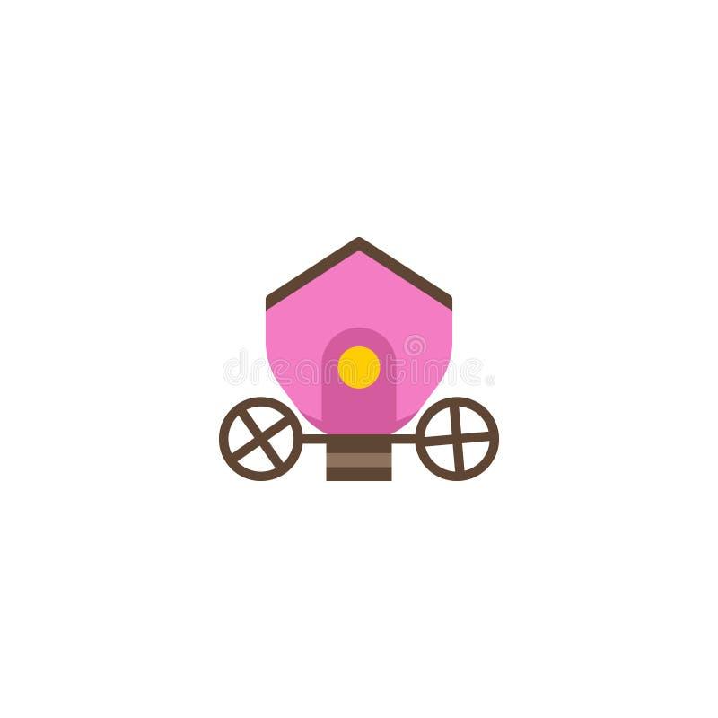 Плоский элемент Brougham значка Иллюстрация вектора плоской колесницы значка на чистой предпосылке Смогите быть использовано как иллюстрация вектора