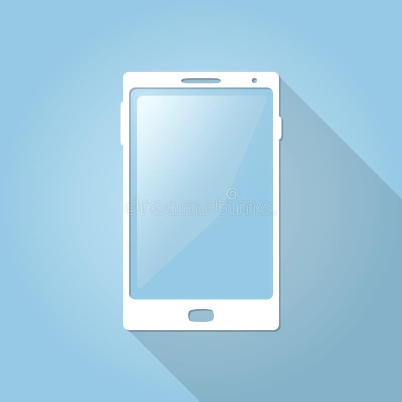 Плоский smartphone вектора, телефон, значок мобильного телефона для сети и передвижные apps иллюстрация вектора