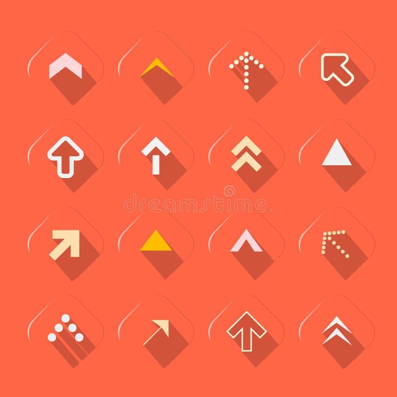 Плоскими иллюстрация вектора дизайна установленная стрелками бесплатная иллюстрация