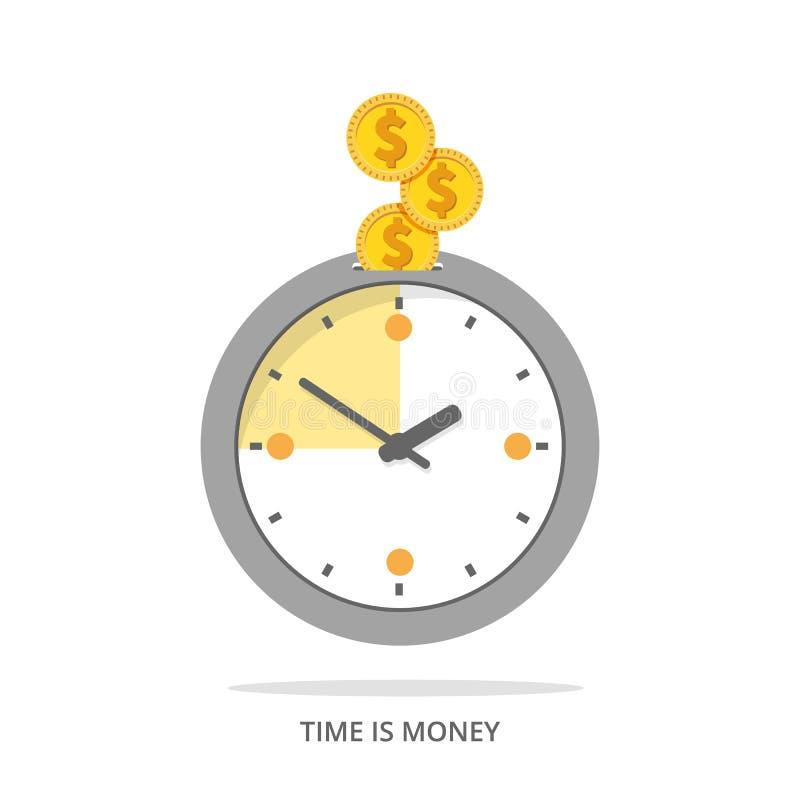 Плоское время деньги бесплатная иллюстрация