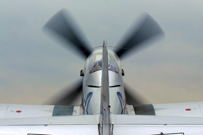 плоскость самолет-истребителя старая стоковые фотографии rf