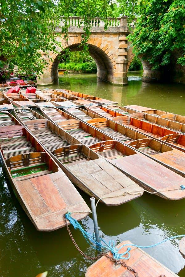 Плоскодонки в Оксфорде стоковое фото