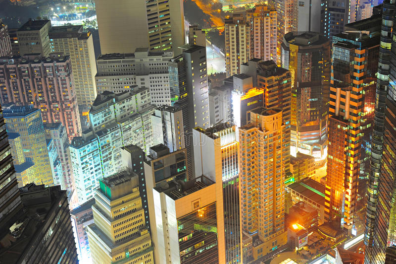 Плотность Гонконга городская стоковые фото