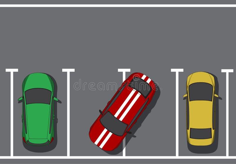 плохая стоянка автомобилей стоковые изображения
