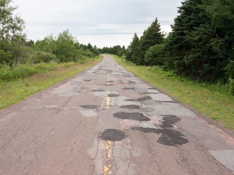 Плохое простирание дороги стоковая фотография rf
