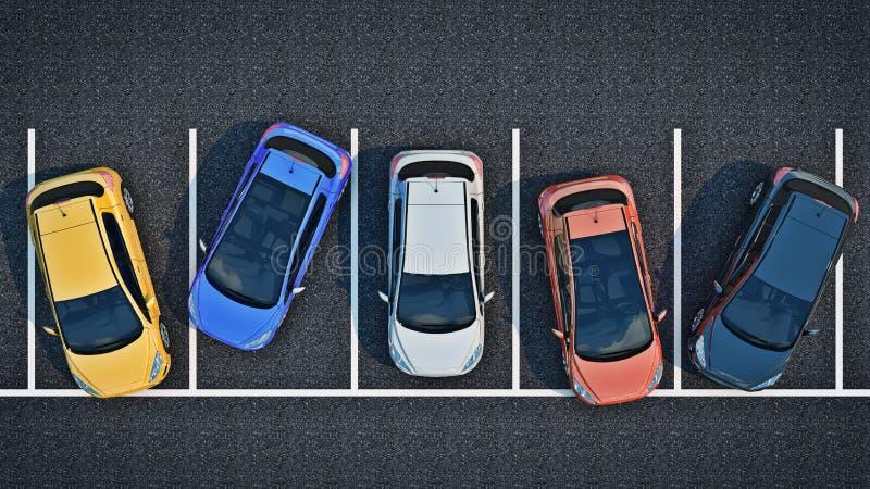 Плохой водитель на автостоянке иллюстрация вектора