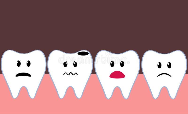 плохой изолированный иллюстрацией зуб стоматологии 3d иллюстрация вектора