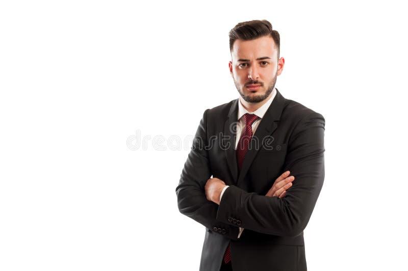 Плохой и сердитый бизнесмен стоковая фотография rf