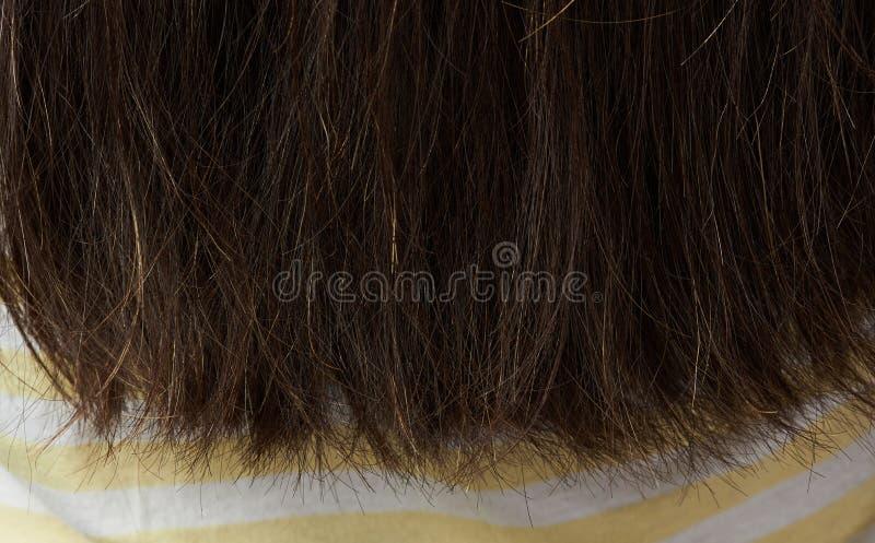 Плохой конец волос женщины стоковая фотография rf