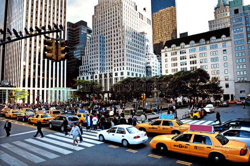 Площадь в Манхаттане Нью-Йорке стоковое фото rf