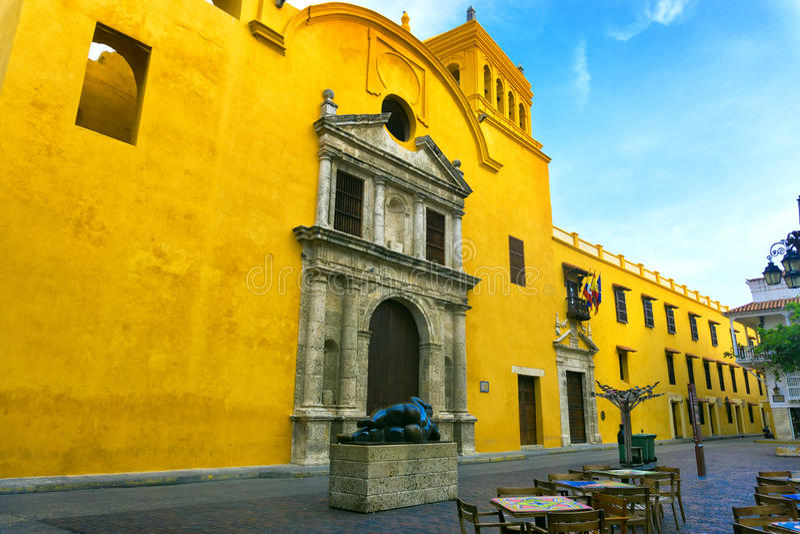 Площадь в Cartagena, Колумбии стоковые изображения