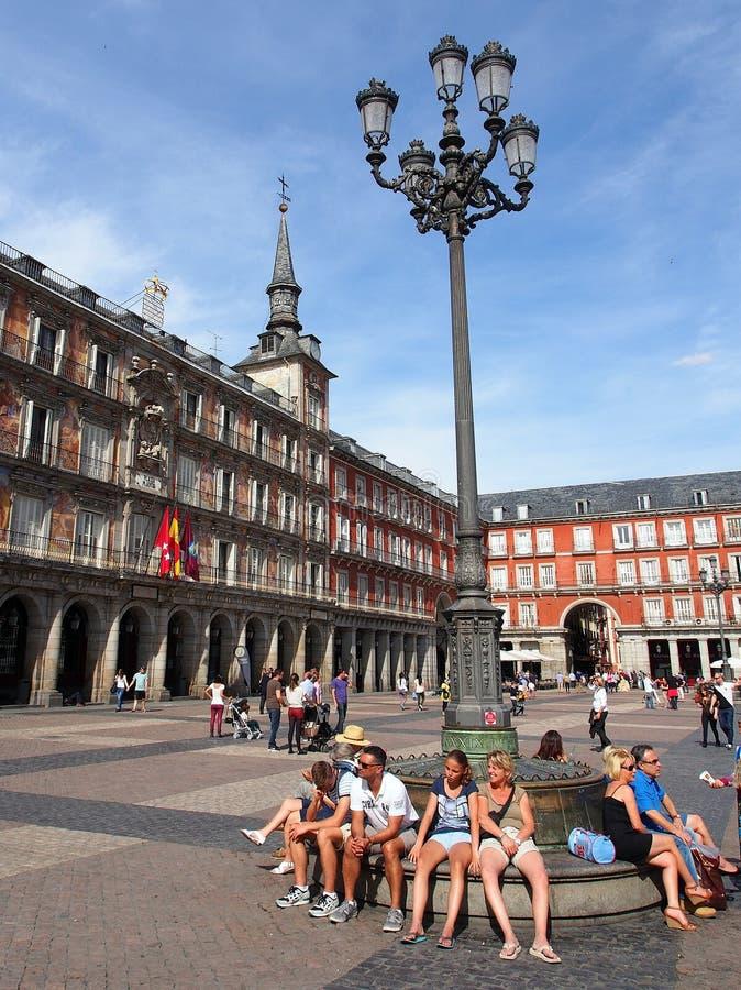 площадь мэра madrid стоковые фотографии rf