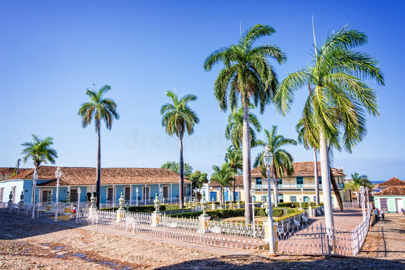 площадь Тринидад мэра Кубы стоковые фото