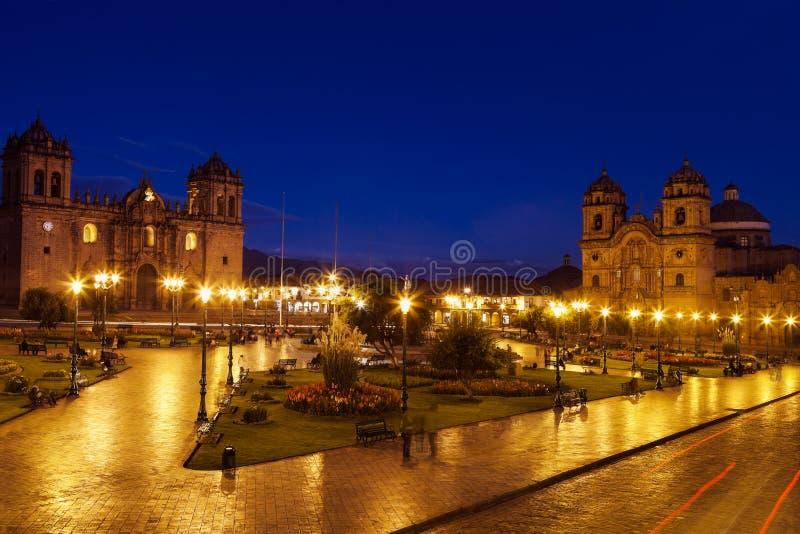 Площадь de Armas в Cuzco, Перу стоковое фото