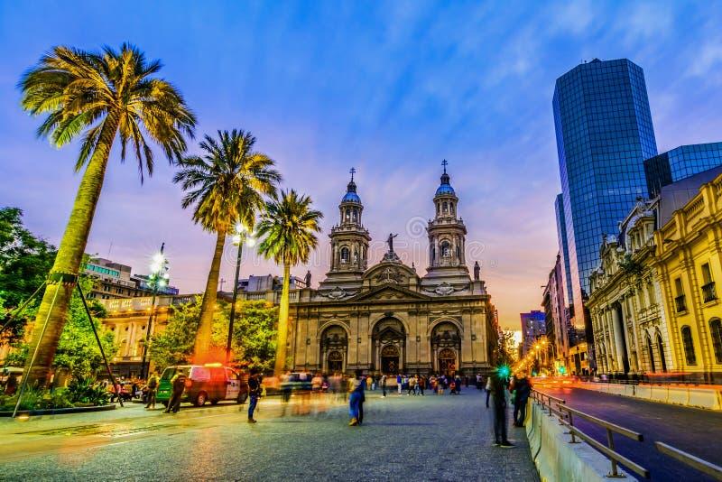 Площадь de Armas, Сантьяго de Чили, Чили стоковые изображения