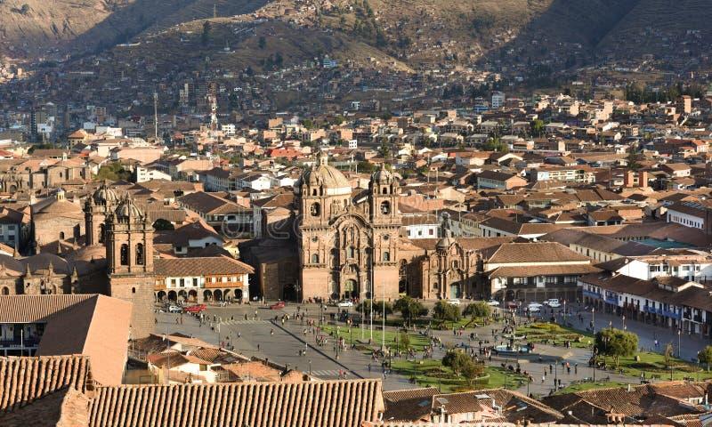Площадь de Armas, Cusco, Перу стоковая фотография rf